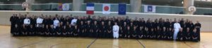 Photo de groupe au stage international de Iaido Montpellier 2019